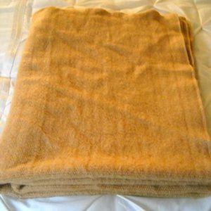 Vintage Wool Blanket 48 X 84